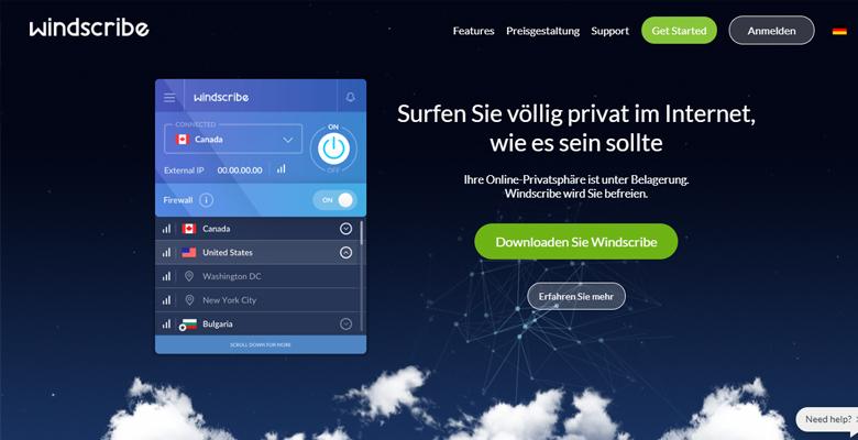 Windscribe VPN Erfahrungen